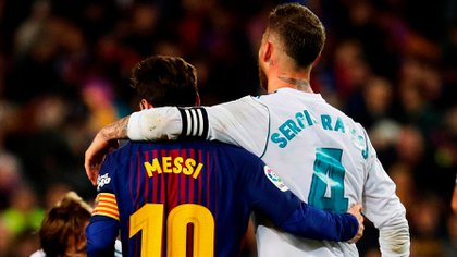 Lionel Messi y Sergio Ramos (EFE)