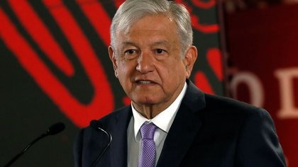 FILE PHOTO: Mexico's President Andres Manuel Lopez Obrador speaks during a news conference to announce a plan to strengthen finances of state oil firm Pemex, at the National Palace in Mexico City, Mexico February 15, 2019. REUTERS/Henry Romero/File Photo