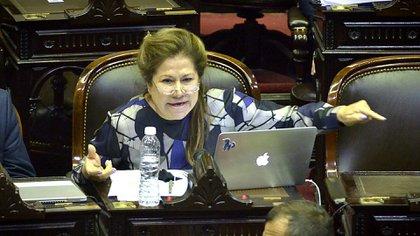 La diputada Graciela Camaño, de larga trayectoria en el Diputados, cuestiona la constitucionalidad del artículo 21 del Reglamento (Gustavo Gavotti)