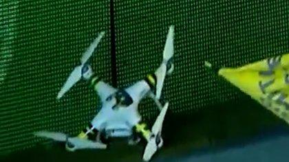 El drone es un DJI modelo Phantom