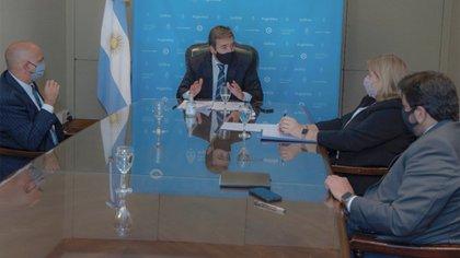 Soria, Rívolo, con Juan Martín Mena (Secretario de Justicia de la Nación) y Susana Pernas (Secretaria de la AFFUN
