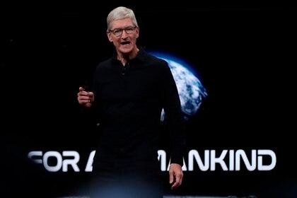 El consejero delegado de la compañía Apple, Tim Cook. EFE/ Monica Davey/Archivo