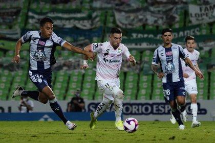 Los de La Comarca están enfocados en quitarse el mal sabor de boca, luego del empate contra Pachuca (Foto: Cortesía/ Club Santos/ Jos Alvarez/ JAM MEDIA)
