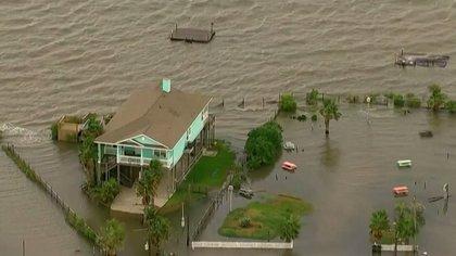 Inundaciones por el huracán Laura en Texas
