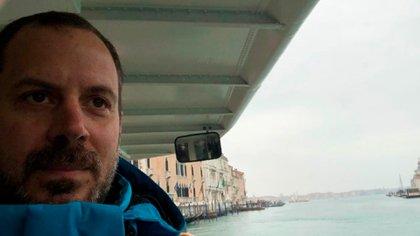 """""""Cuando fuimos a Venecia estaba totalmente desierta"""", dice Ignacio a Infobae (Foto / Gentileza de Ignacio Villalba)"""