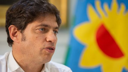 El gobernador Axel Kicillof