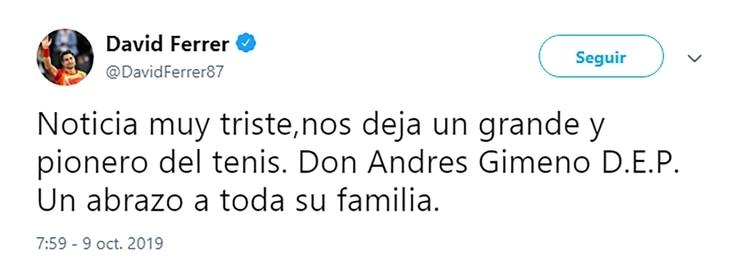 El Twitter de David Ferrer