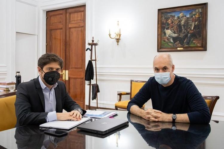 Axel Kicillof marcó diferencias con el gobierno de Horacio Rodríguez Larreta