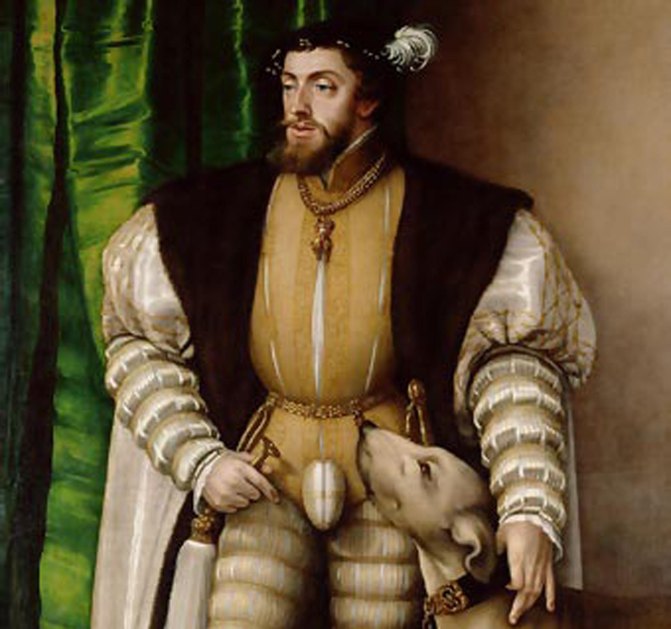 Carlos V posó muchas veces para los retratistas de la Corte