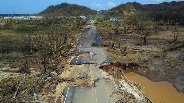 El huracán destrozó la infraestructura de la isla (AFP)