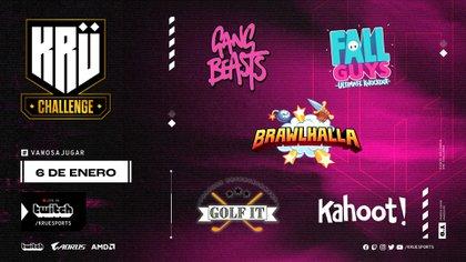 Fall Guys y Brawlhalla serán algunos de los títulos que jugarán los streamers