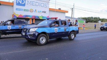 La Policía acosa las instalaciones de El Nuevo Diario. (Cortesía de El Nuevo Diario/Nicaragua)