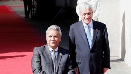 Sebastián Piñera con el ecuatoriano Lenín Moreno (REUTERS/Rodrigo Garrido)