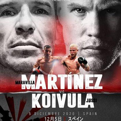 El cartel de presentación del nuevo combate de Maravilla Martínez