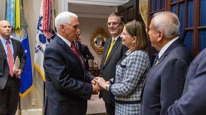 La embajadora mexicana en EEUU, Martha Bárcena, también estuvo presente en la reunión de AMLO-TRUMP (Foto: SRE)
