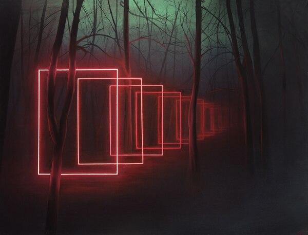 """Multiversos"", óleo sobre tela, de Juan Jiant en Zeitgeist Arte Galería"