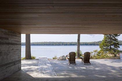 """El diseño, según lo descrito por AIA, """"demuestra la frugalidad de la lengua vernácula de Nueva Escocia de una manera elegante"""""""