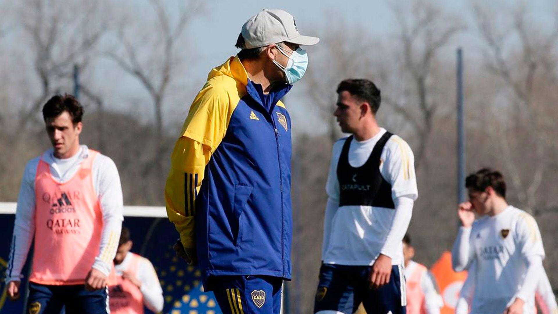 Miguel Ángel Russo Boca entrenamiento