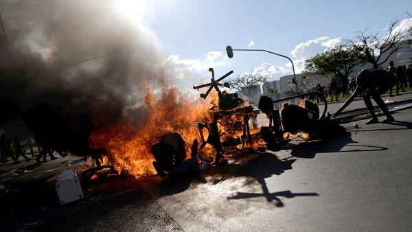 Incidentes en Brasilia en una multitudinaria marcha contra Michel Temer