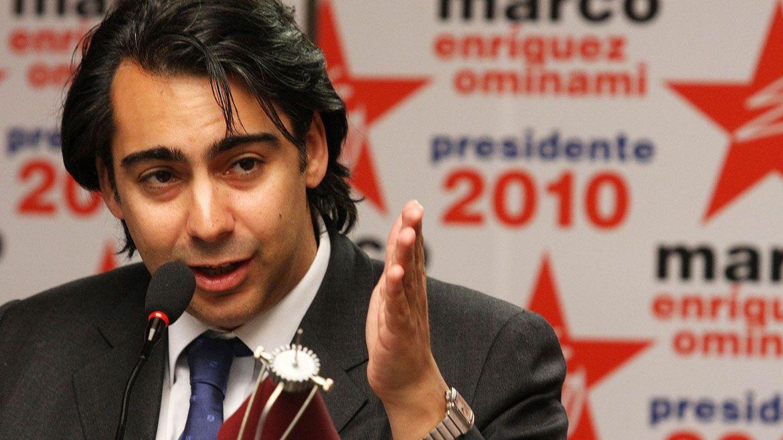 Ominami durante la última campaña electoral en Chile