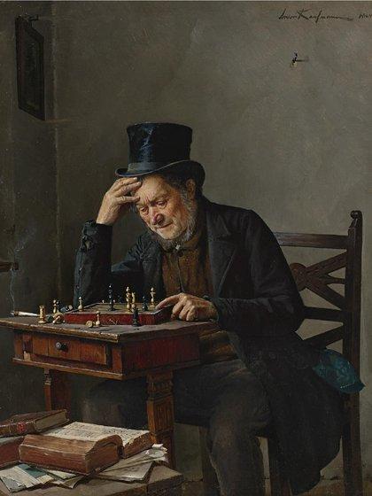 """""""El jugador de ajedrez"""" de Isidor Kaufmann"""