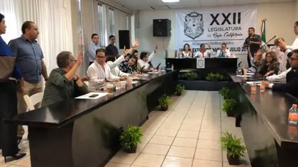 Entre las voces en contra, los legisladores que rechazaron la iniciativa, estuvieron Araceli Geraldo Núñez, Rosina del Villar Casas, y Carmen Leticia Hernández Carmona, de Morena (Foto: Cuartoscuro)