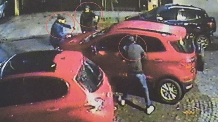 El secuestro de la hija de Rosales tomado por una cámara de seguridad.