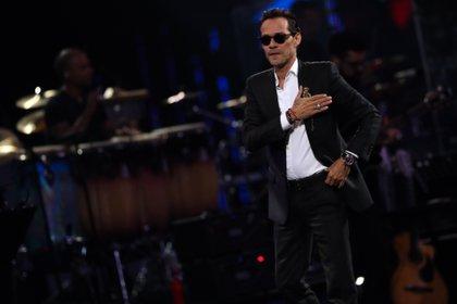En la imagen, el cantante estadounidense de origen puertorriqueño Marc Anthony. EFE/Jose Miguel Caviedes/Archivo