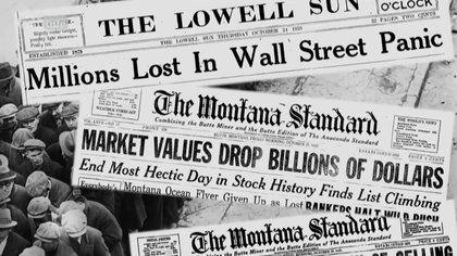 La caída de la bolsa de valores de Wall Street, en 1929, propició el escenario para los súper hombres y mujeres