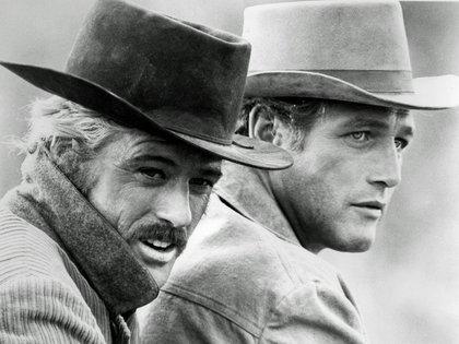 """Robert Redford y Paul Newmanen  en""""Butch Cassidy and The Sundance Kid"""", en 1969. Los actores se convirtieron en una de las parejas cinematográficas más importantes de la historia del cine.  (Shutterstock)"""