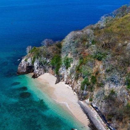 Playa Isla del Coral (Foto: Instagram @riviera_nayarit)