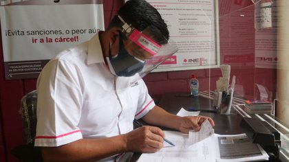 INE siguió los protocolos sanitarios para evitar contagios.  (Foto: Cuartoscuro)
