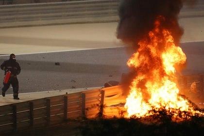 El fuego se apoderó de la escena en Bahréin (Reuters)