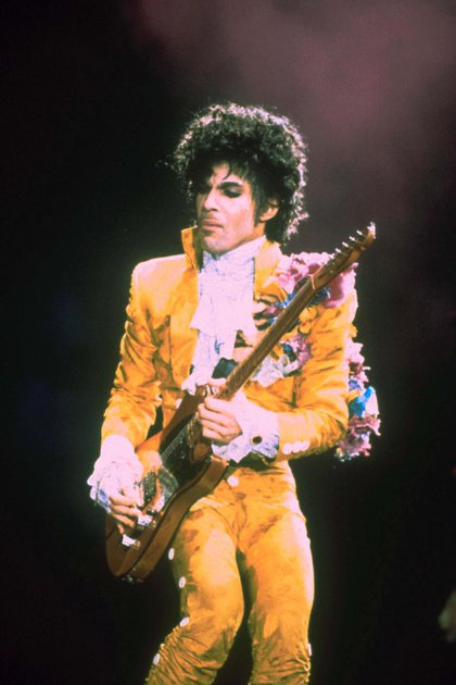 Mandatory Credit: Photo by Shutterstock (115815a) PRINCE PRINCE PERFORMING, LONG BEACH, CALIFORNIA, AMERICA - 1985