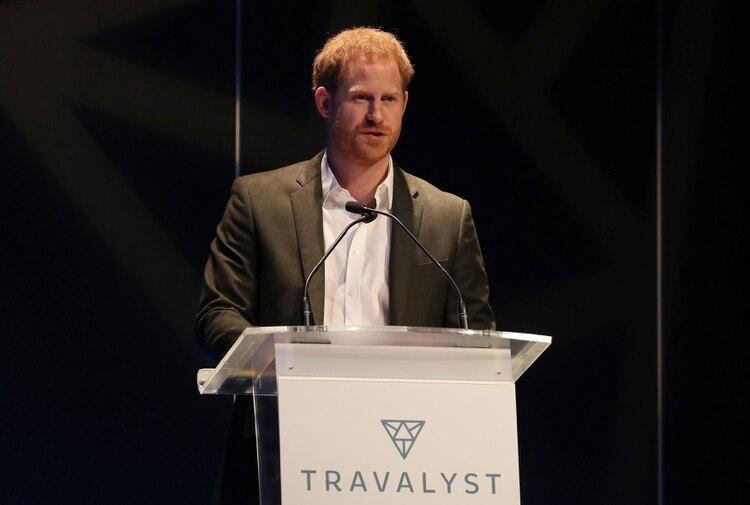Harry de Inglaterra asistió a una cumbre sobre turismo sostenible y ético en el Centro Internacional de Conferencias de Edimburgo. Escocia