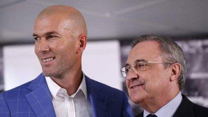 Zidane le hará pedidos a Florentino Pérez en el próximo mercado de pases (Reuters)