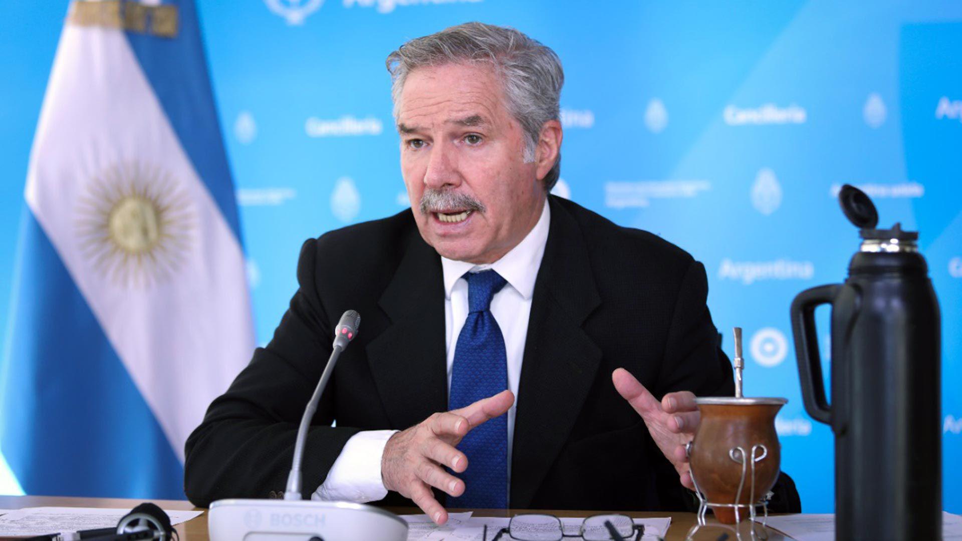 canciller Felipe Solá en el Council of Americas