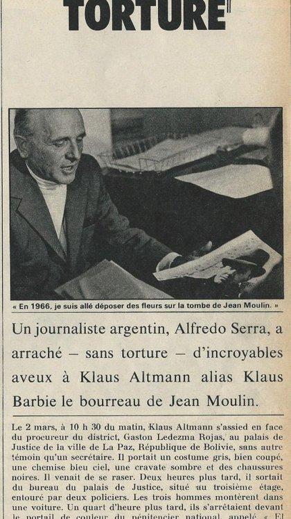 """""""Sí, yo torturo"""", es el título de la nota que publicó la prestigiosa revista Paris Match en 1973"""