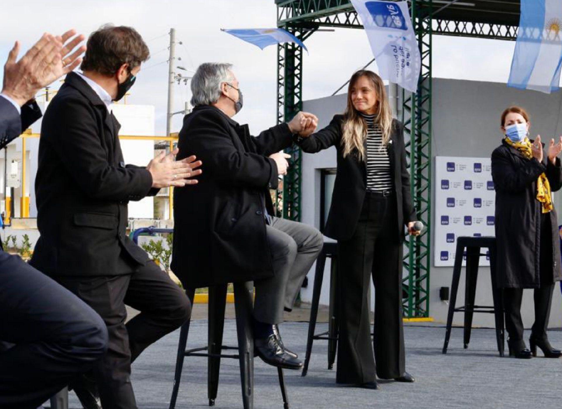 Axel Kicillof, Alberto Fernández y Malena Galmarini