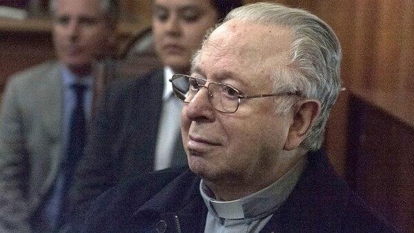 Fernando Karadima ante la Justicia.Ahora vive en una casa de retiro (AFP)