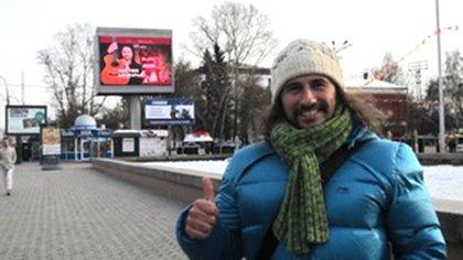 Antes del recital en el Teatro Filarmónico de Irkutsk, Siberia