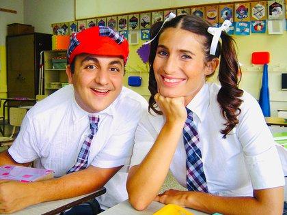 Diego Topa y Romina Yan (Foto: archivo Diego Topa)