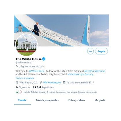 Twitter WhiteHouse