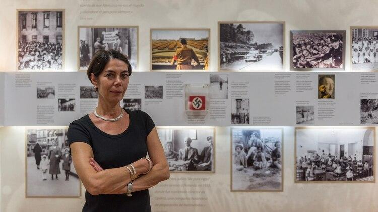 En su primera visita al país, recibió a los medios en el Museo de Ana Frank en el barrio de Belgrano.