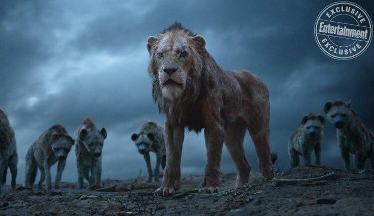 Scar y las hienas (Foto: Disney/Entertainment Weekly)