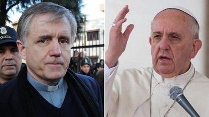El padre Grassi y el papa Francisco.