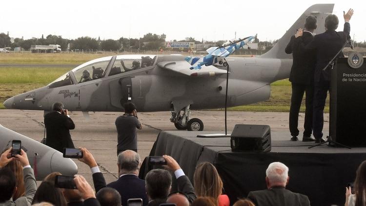 Las modernas unidades fueron presentadas en un acto encabezado por el presidente Macri (Télam)