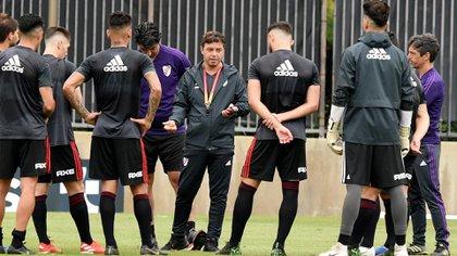 El Muñeco, listo para poner en marcha una nueva temporada al frente del Millonario: esta noche iniciará el ciclo por Copa Argentina (NA)