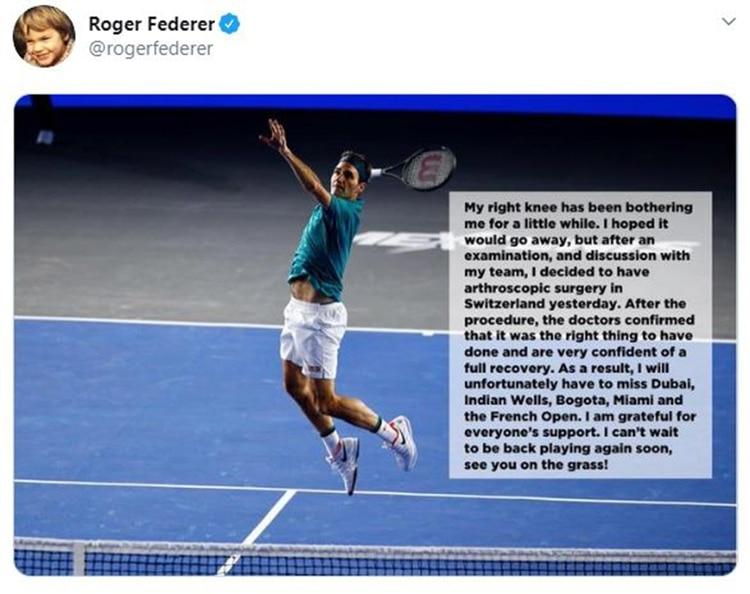 Este es posteo de Federer en sus redes sociales para anunciar su baja del circuito (@rogerfederer)