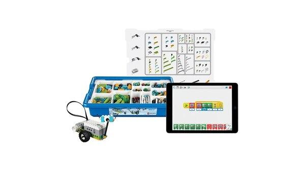 El kit de robótica y programación de Lego Education.